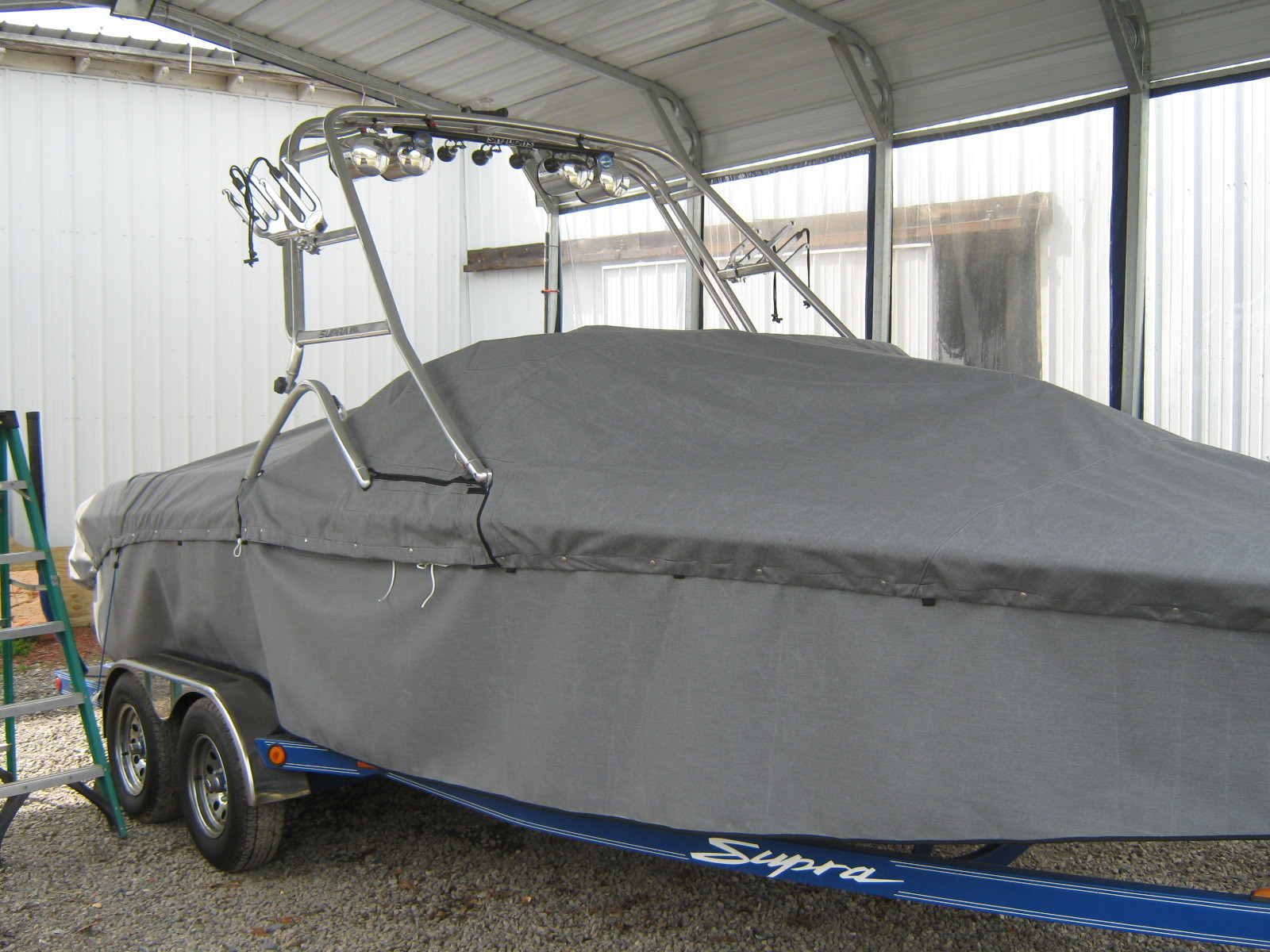 BOAT COVERS  You might think of boating as an outdoor recreation but leaving your boat uncovered will destroy your interior.